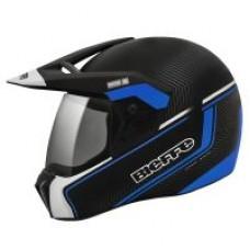 Capacete Bieffe 3 Sport Stato Preto Fosco com Azul