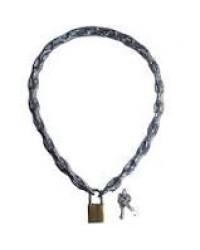 Cadeado Corrente 55CM C/Cadeado Traseiro 32MM Transparente