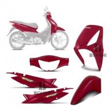 Kit Carenagem Completo Biz 125 2006 Vermelho SPORTIVE