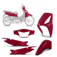 Kit Completo Moto Biz 125 2008/10 Vermelho Sportive