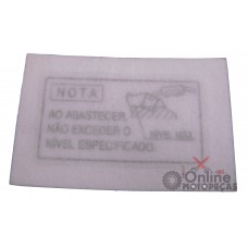 Etiqueta Precaução Abastecimento Tanque NX 350 Sahara Genuína Honda