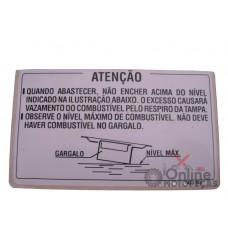 Etiqueta Precaução Tanque NX 350 Sahara Genuína Honda