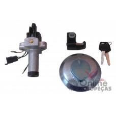 Kit Conjunto Chave Ignição Tampa Tanque Trava Capacete XR 200 Duas Barras