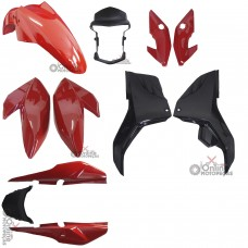 Kit Plástico Fan 160 2016 Vermelha - Completo - Paramotos