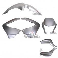 Kit Plástico NX 400 Falcon 2000 2001 e 2008 Prata Paramotos