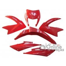 Kit Plástico NXR 150 Bros 2009 e 2010 Vermelho Melc