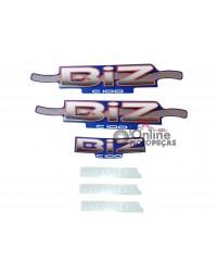 Jogo Adesivos C100 Biz 2002 Azul LBM