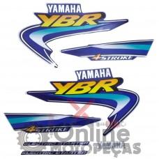 Jogo Adesivos YBR 125 2003 Azul LBM