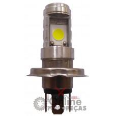 Lâmpada Farol H4 12Volts 6/12Watts Today Titan 125 Titan 150 Fan 125 Fan 150 Strada Aero YBR 125 XTZ 125 6500K - LED - Torati